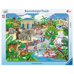 Ravensburger Rahmenpuzzle Besuch Im Zoo - Rahmenpuzzle, 45 Puzzleteile bunt