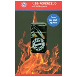 FCB USB-Feuerzeug mit Glühspirale 37V schwarz