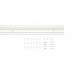 Gardinenschiene Vorhang-Schiene SAM 1-Lauf, Good Life, 3-läufig, Wunschmaßlänge