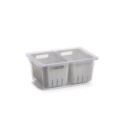 Neuetischkultur Aufbewahrungsbox Kühlschrank-Box Kunststoff, Kühlschrankbox weiß