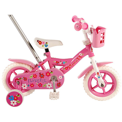 Yipeeh Flowerie Kinderfahrrad - Mädchen - 10 Zoll - Pink / Weiß rosa