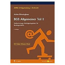 BGB Allgemeiner Teil II. Achim Bönninghaus  - Buch