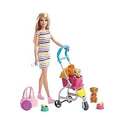 Barbie Hundebuggy Spielset mit Puppe (blond)