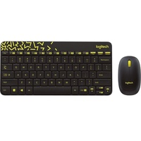 Logitech MK240 Nano Wireless Tastatur US Set schwarz/gelb (920-008382)