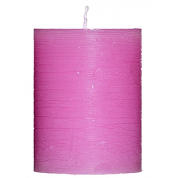 Kerze RUSTIK rosa(DH 7x9 cm)