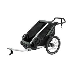 Thule Fahrradkindersitz Fahrradanhänger Chariot Lite, mint/schwarz grau