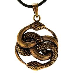 Kiss of Leather Kettenanhänger Schlangen Anhänger Bronze Schlange Snake zwei Knoten Auryn