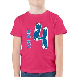Shirtracer T-Shirt Ich bin 4 Blau Junge - Geburtstag Kind - Jungen Kinder T-Shirt - T-Shirts geburtstags mitgebsel kinder 116 (5/6 Jahre)