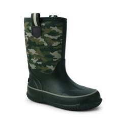 Isolierte Gummistiefel, Kids, Größe: 27 Junge, Grün, by Lands' End, Dunkel Moos Grün Camouflage - 27 - Dunkel Moos Grün Camouflage