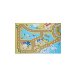 relaxdays Spielmatte Spielmatte Straße gelb