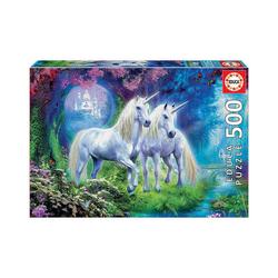 Educa Puzzle Puzzle Einhörner im Wald, 500 Teile, Puzzleteile