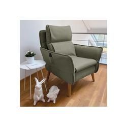 Sesselschoner, PLACE TO BE., Sesselschonbezug für Relaxsessel Insideout grün