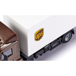 Siku Spielzeug-Auto MAN LKW mit Kofferaufbau und Ladebordwand UPS