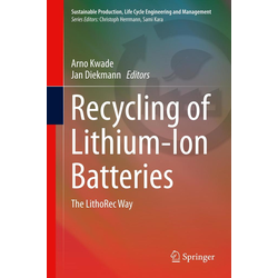 Recycling of Lithium-Ion Batteries als Buch von