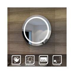 sunnyshowers LED Bad Spiegel 84cm wandspiegel rund Badezimmer Lichtspiegel Badspiegel LED