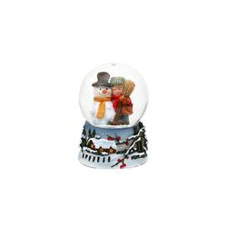 SIGRO Schneekugel Schneekugel Schneemann mit Kind