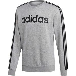 adidas Herren Sweatshirt Essentials 3-Streifen Crew Sweatshirt, Mgreyh, XS, EI4902