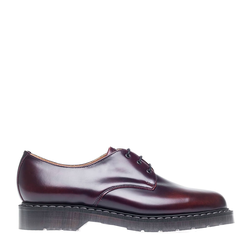 Solovair 3 Eye Gibson Shoe - Burgundy Rub-off