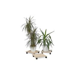relaxdays Blumentopfuntersetzer Pflanzenroller 3er Set 35 cm x 7.5 cm x 35 cm