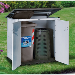 Garofalo Mülltonnenbox URBAN 100, für 2x120 l aus Kunststoff, BxTxH: 122,5x82,5x133 cm