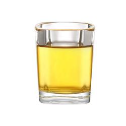 Praknu Schnapsglas 12 Schnapsgläser ECKIG KLAR (12-tlg), Glas, 12 Schnapsgläser Set Glas 4cl Eckig - Standfest - Spülmaschinenfest - Gläser für Tequila Wodka