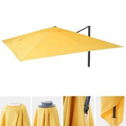 Bezug für Luxus-Ampelschirm MCW-A96, Sonnenschirmbezug Ersatzbezug, 3x3m (Ø4,24m) Polyester 2,7kg ~ gelb