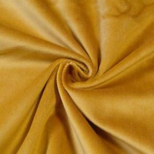 STOFFKONTOR Bühnensamt Samt Stoff B1 schwer entflammbar - Meterware, Gold-gelb - zum Nähen von Vorhängen und Dekorationen