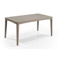 Allibert Gartentisch Dining Tisch Girona (1-St), 1x Tisch natur