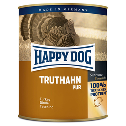 (4,79 EUR/kg) Happy Dog Truthahn Pur 800 g - 6 Stück