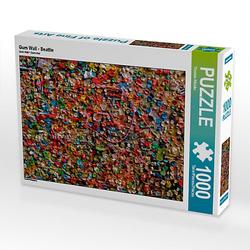 Gum Wall - Seattle Lege-Größe 48 x 64 cm Foto-Puzzle Bild von TomKli Puzzle