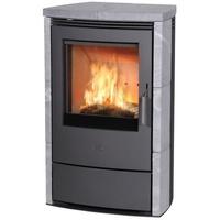 Fireplace Meltemi Stahl gussgrau/Speckstein