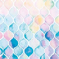 VBS Papierserviette Wasserfarben, (5 St), 33 cm x 33 cm