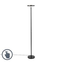 Moderne Stehlampe schwarz inkl. LED - Hanz