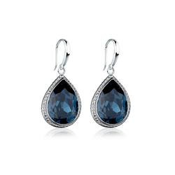 Elli Paar Ohrhänger Tropfen Kristalle Elegant 925 Silber