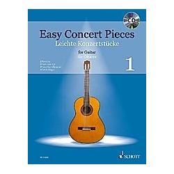 Easy Concert Pieces  für Gitarre  m. Audio-CD - Buch