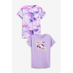 Next Pyjama Jersey-Nachthemden mit Einhorn-Print, 2er-Pack (2 tlg) 140