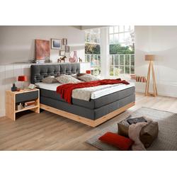 ADA premium Boxspringbett Chalet, TF 170 SL PM, Zirbenholz natur geölt grau 172 cm x 215 cm