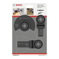 Bosch Holz-Basis-Set 3-teilig Sägeblätter für Multifunktionswerkzeuge