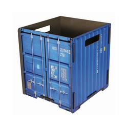 """WERKHAUS® Papierkorb Werkhaus - Papierkorb """"Container"""" Blau CO1031 Mülleimer Abfalleimer Papierkörbe"""