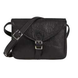 Sonnenleder Handtasche Ibiza, Umhängetasche, Damentasche, süddeutsches Rindleder schwarz