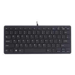 R-Go Compact Tastatur, QWERTY (UK), weiß, drahtgebundenen