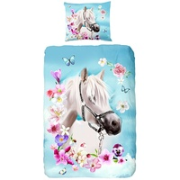 Good Morning Pferd blau (140x220+60x70cm)