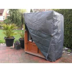 Komfort-Schutzhülle für Strandkörbe, für 130 x 100 x 170/134 cm, Anthrazit
