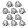 10 Stück OLYMPIA LED GU10 5 W 400 Lumen – N, EEK A+ (Spektrum: A++ bis E)