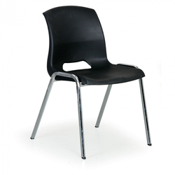 Stapelbarer stuhl cleo, schwarz