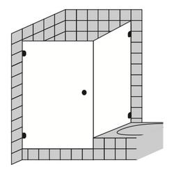 Sprinz Spinell Plus Eck-Duschkabine Pendeltür/Tür und Seitenwand an Badewanne