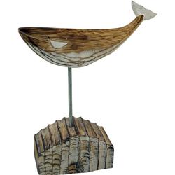 Guru-Shop Dekofigur Geschnitzte Holzfigur Wal, Moby Dick 1, auf..