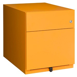 BISLEY Note Rollcontainer gelb 2 Auszüge