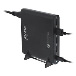 InLine® Quick Charge 3.0 USB Notebook-Netzteil, Ladegerät, 4x USB A + USB Typ...