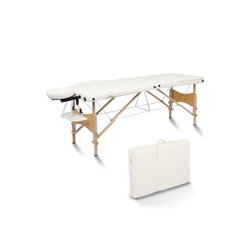 FCH Massageliege 3 Zonen Massagetisch (Set), Mobile Massagebett Klappbare Therapieliege Tragbare weiß